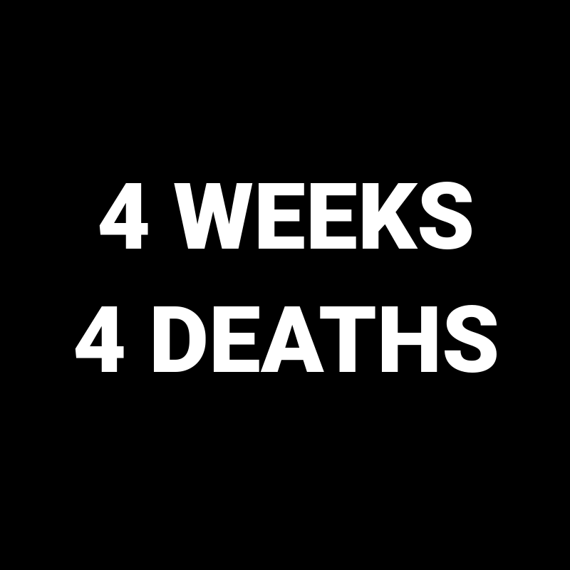 Four deaths in four weeks