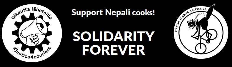 Solidarity for Nepalese cooks!