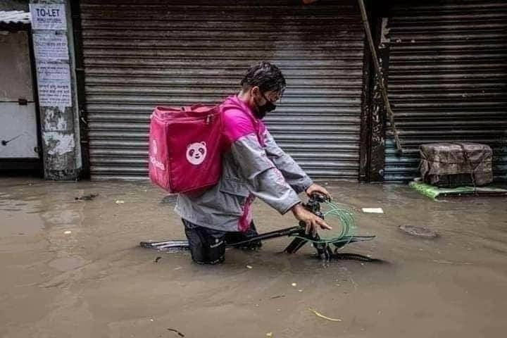 Food courier in Dhaka